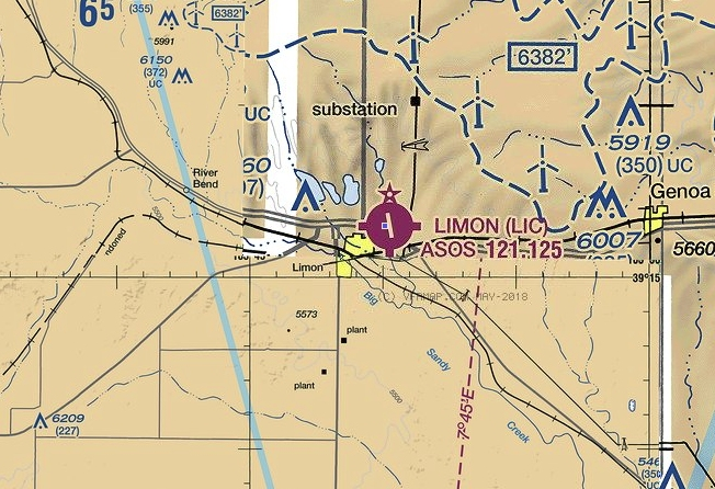 limon airport chart